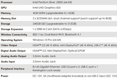 MiniX NEO J50C-4 Plus Mini-PC