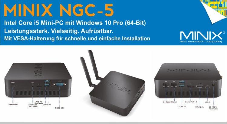 MINIX NGC-5 / Intel i5 Mini PC, 256GB SSD, 8GB RAM, Triple Display Ports